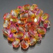 Fire polish 4 mm - Dual Coated Orange-Pink