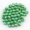 Fire polish 4 mm - Coated Green