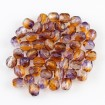 Fire polish 4 mm - Coated Cantaloupe-Grape
