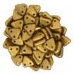 Margele Triangle - Matte Metallic Goldenrod