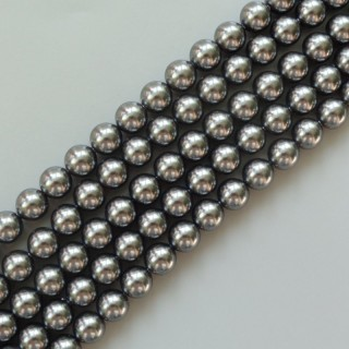 Perle Swarovski 6 mm - Dark Grey