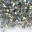 Biconic Swarovski 6 mm - Black Diamond AB