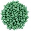 Fire polish 3 mm - Gold Shine Lt Green