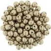 Round Ball 4 mm - Sat Met Hazelnut