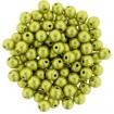 Round Ball 4 mm - Sat Met Primrose Yellow