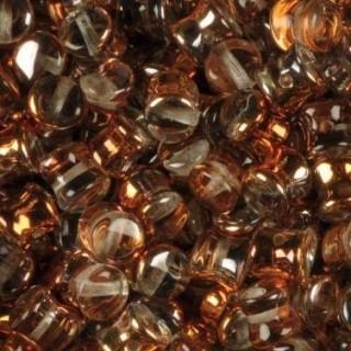 Margele Pellet 6 x 4 mm - Crystal Transp Sunset Half