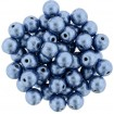 Margele rotunde 6 mm - Sat Met Blue
