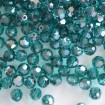 Faceted Round 6 mm - Blue Zircon Satin
