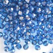 Faceted Round 6 mm - Capri Blue Satin