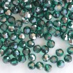 Faceted Round 6 mm - Emerald Satin