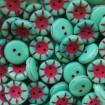 Nasture 14 x 5 mm - Verde turcoaz-zmeura