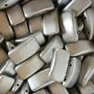 Carrier Beads 17 x 9 mm - Matte Met Aluminum