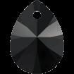 Pandantiv Pear 12 mm - Jet