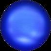 Perle Banut  10 mm - Iridescent Dk. Blue