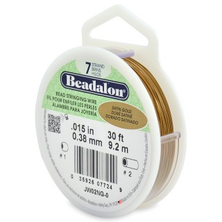 Sarma Beadalon 7 strands - Satin Gold