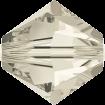 Biconic Swarovski 6 mm - Crystal Silver Shade