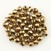 Fire polish 4 mm - Gold Bronze