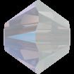 Biconic Swarovski 3 mm - White Opal Shimmer