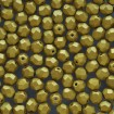 Fire polish 6 mm - Matte Met Aztec Gold
